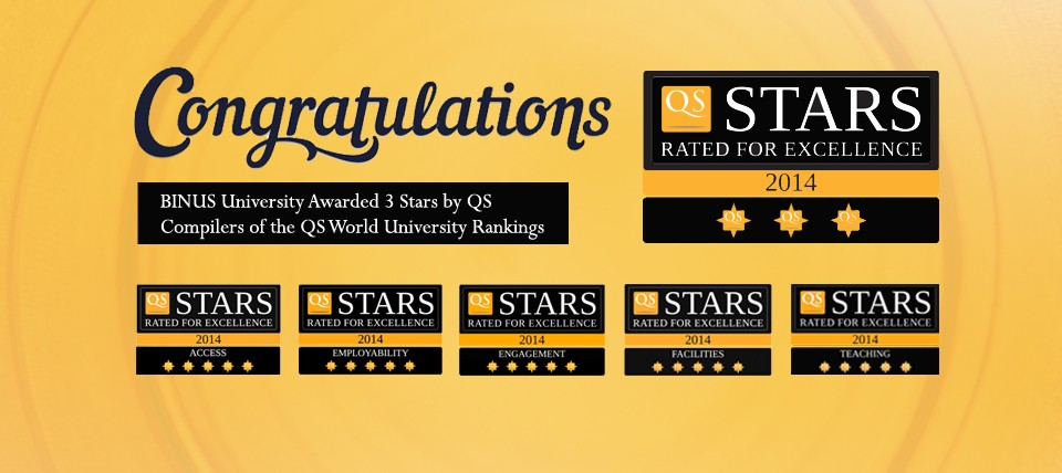 QS Stars Rated for Excellence