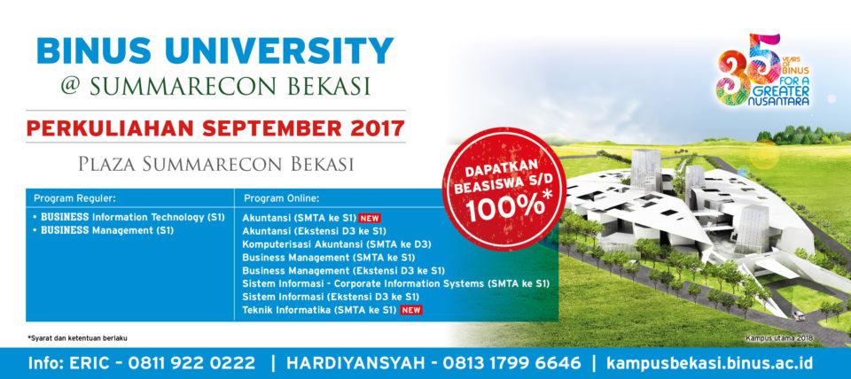 Private: BINUS UNIVERSITY @ Summarecon Bekasi