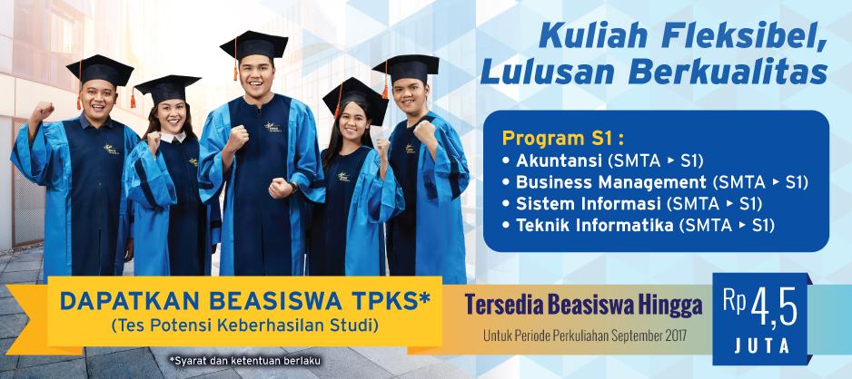 BEASISWA TPKS BINUS ONLINE LEARNING (PERIODE SEPT 2017)